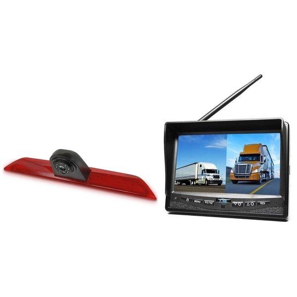 RVS-systemen  Ford Transit  Custom Klep (2014-heden) Remlichtcamera Draadloze set Monitor 7 inch RVM-708