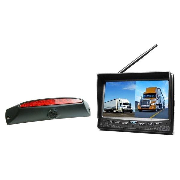 RVS-systemen IVECO Daily (2011-2014) Remlichtcamera Draadloze set Monitor 7 inch RVM-708