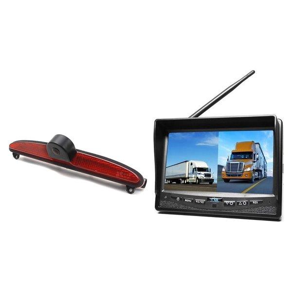 RVS-systemen IVECO Daily (2014 -2018) Remlichtcamera Draadloze set Monitor 7 inch RVM-708