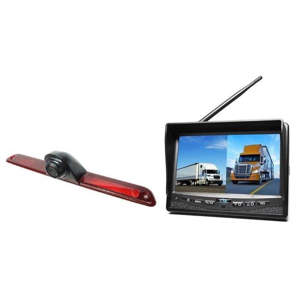 RVS-systemen Mercedes Sprinter Laag (2007- heden) Remlichtcamera Draadloze set Monitor 7 inch RVM-708