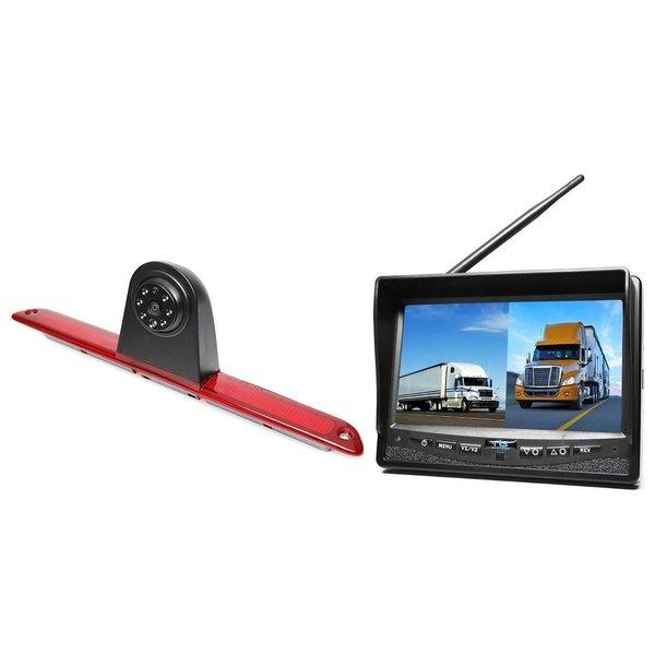 RVS-systemen Mercedes Sprinter Hoog (2007-heden) Remlichtcamera Draadloze set Monitor 7 inch RVM-708