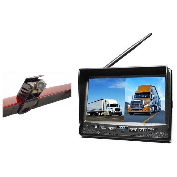 RVS-systemen Mercedes Vito  (2011-2014) Remlichtcamera Draadloze set Monitor 7 inch RVM-708
