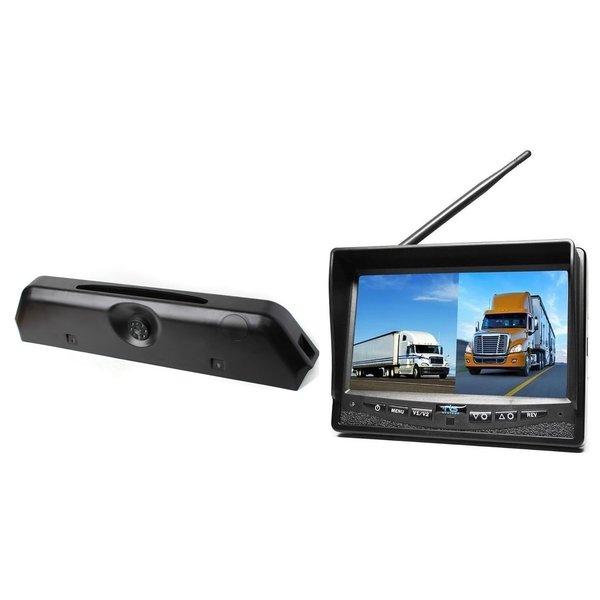 RVS-systemen Iveco Daily (2014-2018) Remlichtcamera Draadloze set Monitor 7 inch RVM-708