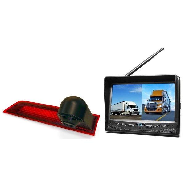 RVS-systemen Ford Transit Custom (2012-mei 2016) Remlichtcamera Draadloze set Monitor 7 inch RVM-708