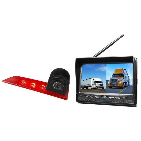 RVS-systemen Ford Transit Custom Led (2016-helden) Remlichtcamera Draadloze set Monitor 7 inch RVM-708