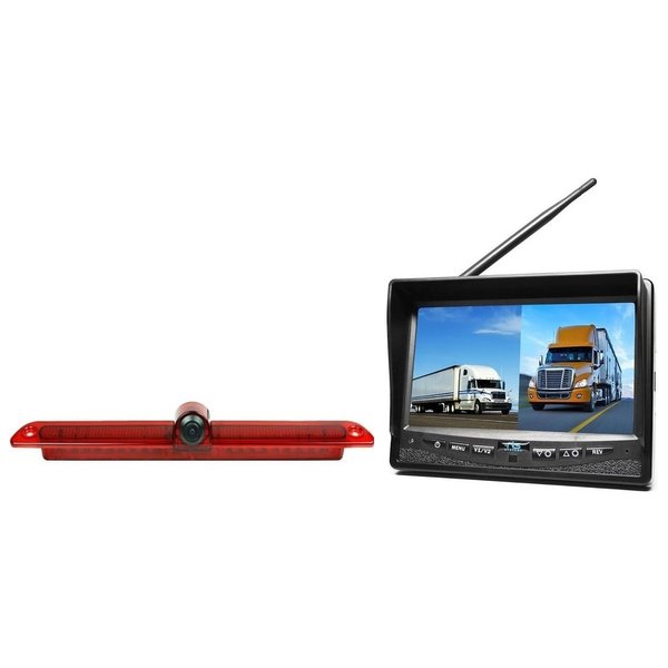 RVS-systemen  VW Crafter Led (2007-heden) Remlichtcamera Draadloze set Monitor 7 inch RVM-708