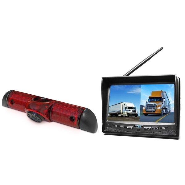 RVS-systemen Peugeot Boxer (2006-heden) Remlichtcamera Draadloze set Monitor 7 inch RVM-708