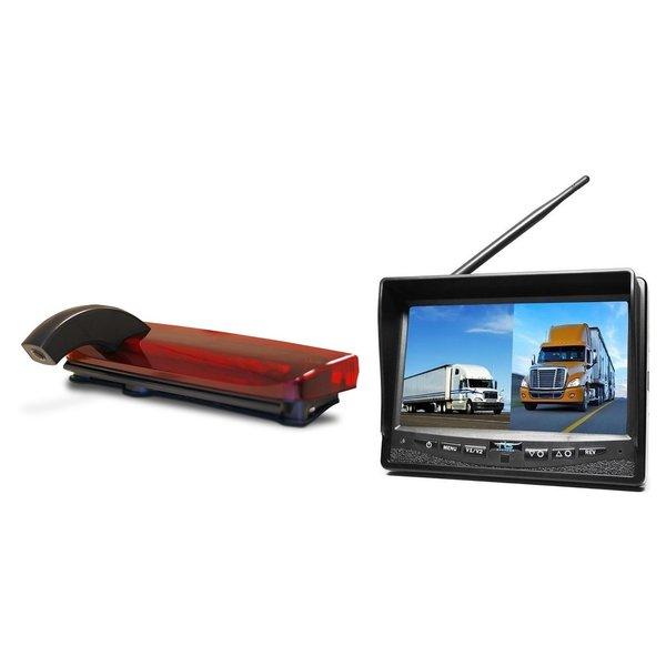 RVS-systemen Ford Connect (2013-heden) Remlichtcamera Draadloze set Monitor 7 inch RVM-708