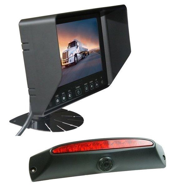 RVS-systemen IVECO Daily (2011-2014) Remlichtcamera Achteruitrijcamera  Monitor 7 inch RVB-720