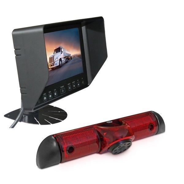 RVS-systemen Peugeot Boxer (2006-heden) Remlichtcamera Achteruitrijcamera Monitor 7 inch RVB-720
