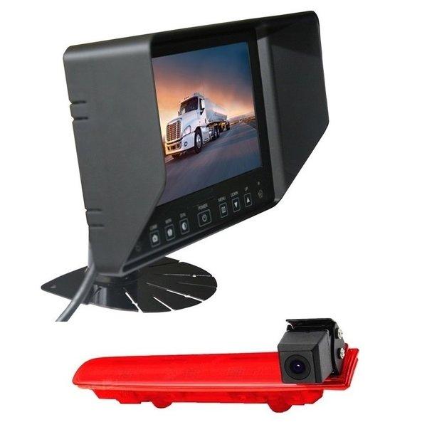 RVS-systemen VW Transporter T5 (2010-heden) Remlichtcamera Achteruitrijcamera  Monitor 7 inch RVB-720