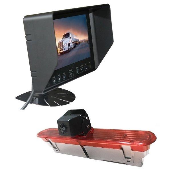RVS-systemen Fiat Dublo (2010–heden) Remlichtcamera Achteruitrijcamera  Monitor 7 inch RVB-720