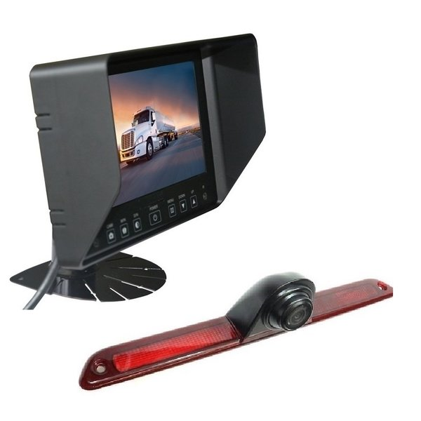 RVS-systemen VW Crafter Laag (2016-heden) Remlichtcamera Achteruitrijcamera Monitor 7 inch RVB-720