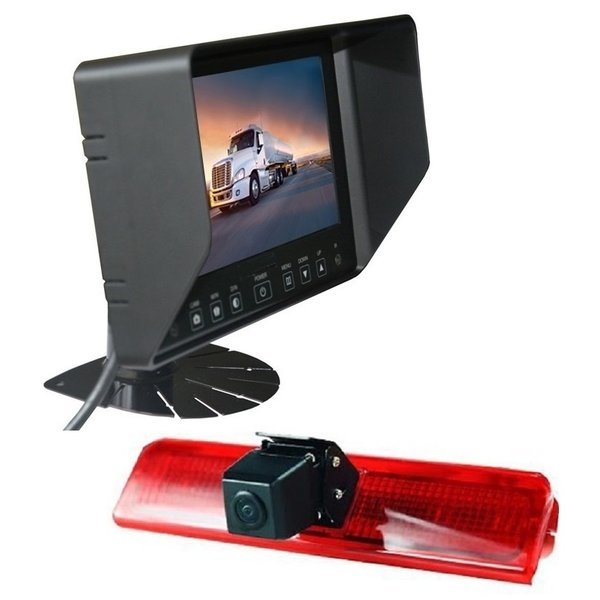 RVS-systemen VW Caddy  (2010-heden) Remlichtcamera Achteruitrijcamera Monitor 7 inch RVB-720