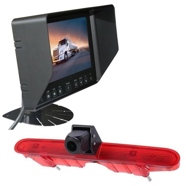 RVS-systemen Peugeot Partner (2008-2016) Remlichtcamera Achteruitrijcamera  Monitor Monitor 7 inch RVB-720