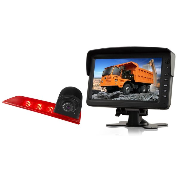 RVS-systemen Ford Transit Custom Led (2016-heden) Remlichtcamera Led Monitor 7 inch RVM-760