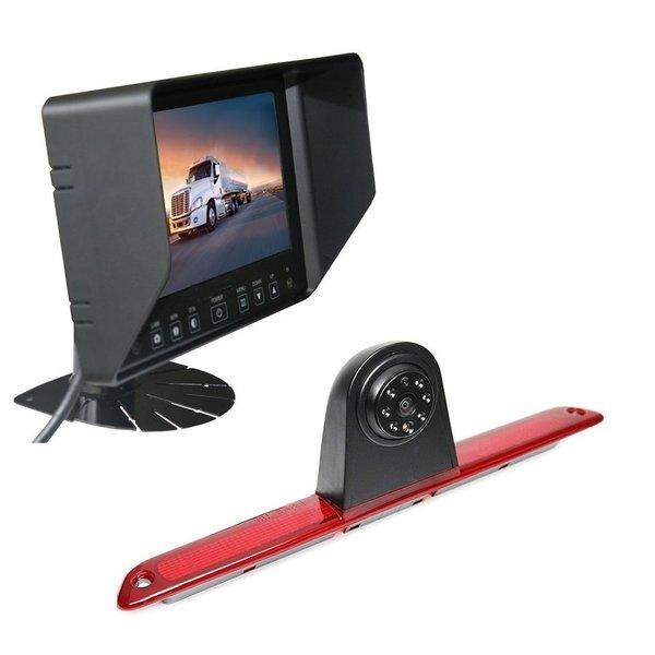 RVS-systemen Mercedes Sprinter Hoog (2007- heden) Remlichtcamera Achteruitrijcamera  Monitor 7 inch RVB-720
