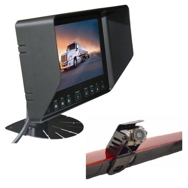 RVS-systemen Mercedes Vito  (2011-2014) Remlichtcamera Achteruitrijcamera Monitor 7 inch RVB-720