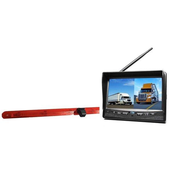 RVS-systemen Mercedes Vito (2016-heden) Remlichtcamera Draadloze set Monitor 7 inch RVM-708