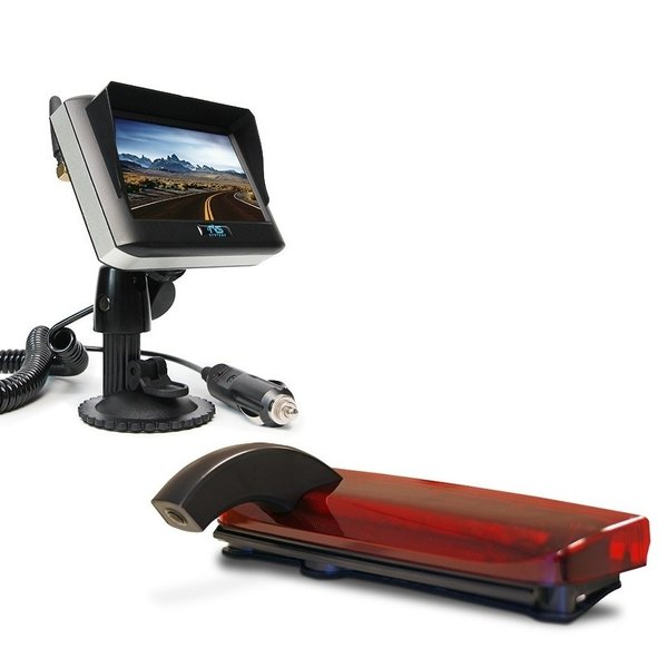 RVS-systemen Ford Transit Connect (2013-heden) Remlichtcamera Draadloze set Monitor 4.3 inch RVM-430