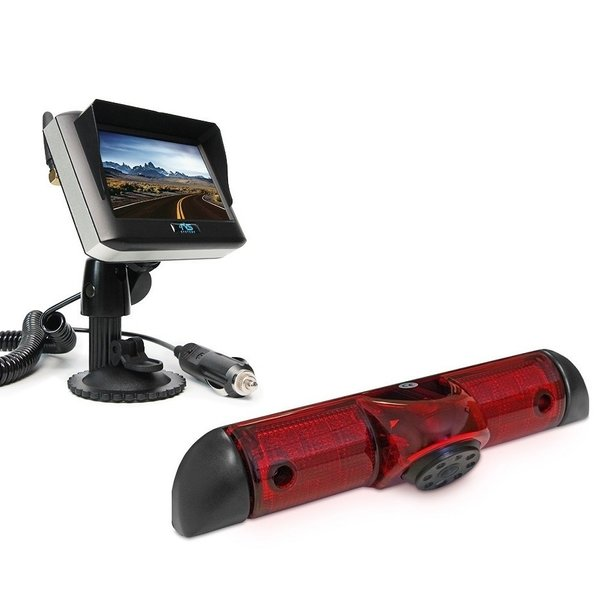 RVS-systemen Citroen Jumper (2006-heden) Remlichtcamera  Achteruitrijcamera Draadloze set Monitor 4.3 inch RVM-430