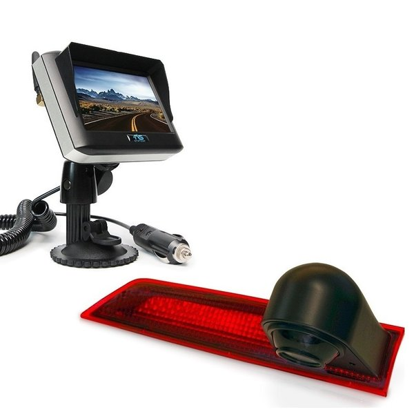 RVS-systemen Ford Transit Custom (2012-mei 2016) Remlichtcamera Draadloze set Monitor 4.3 inch RVM-430