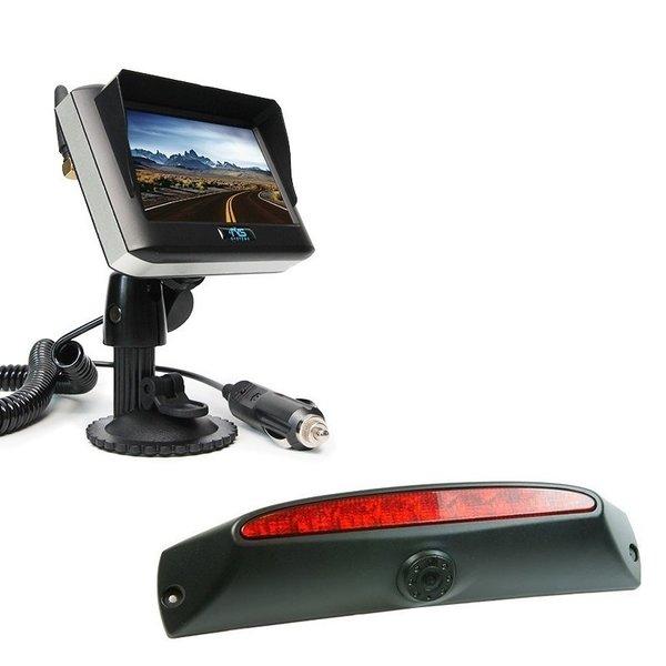 RVS-systemen IVECO Daily (2011-2014) Remlichtcamera Achteruitrijcamera Draadloze set Monitor 4.3 inch RVM-430