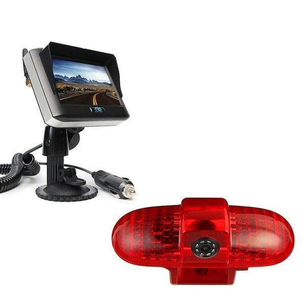 RVS-systemen Opel Combo  (2001 -2011) Remlichtcamera Draadloze set Monitor 4.3 inch RVM-430