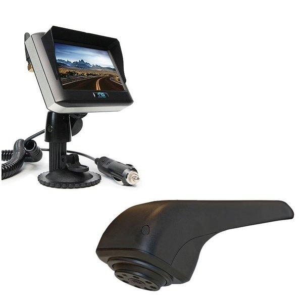 RVS-systemen VW Crafter Originele (2017-heden) Remlichtcamera Achteruitrijcamera Draadloze set Monitor 4.3 inch RVM-430