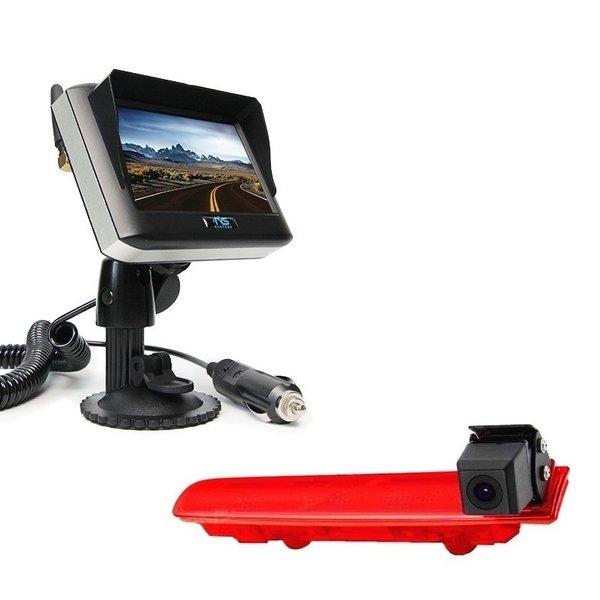 RVS-systemen VW Transporter T5 (2010-heden) Remlichtcamera Draadloze set Monitor 4.3 inch RVM-430