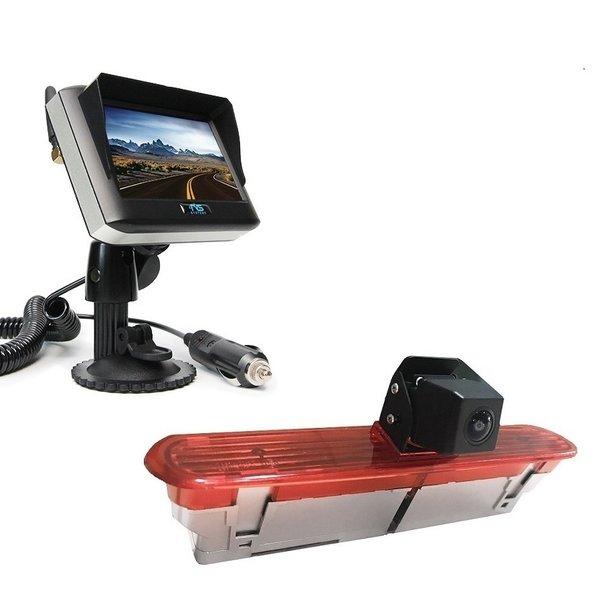 RVS-systemen Fiat Dublo (2010–heden) Remlichtcamera Draadloze set Monitor 4.3 inch RVM-430