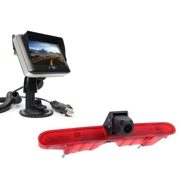 RVS-systemen Peugeot Partner (2008-2016) Remlichtcamera Draadloze set Monitor 4.3 inch RVM-430