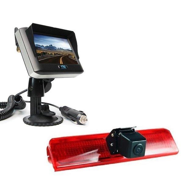 RVS-systemen VW Caddy  (2010-heden) Remlichtcamera Draadloze set Monitor 4.3 inch RVM-430