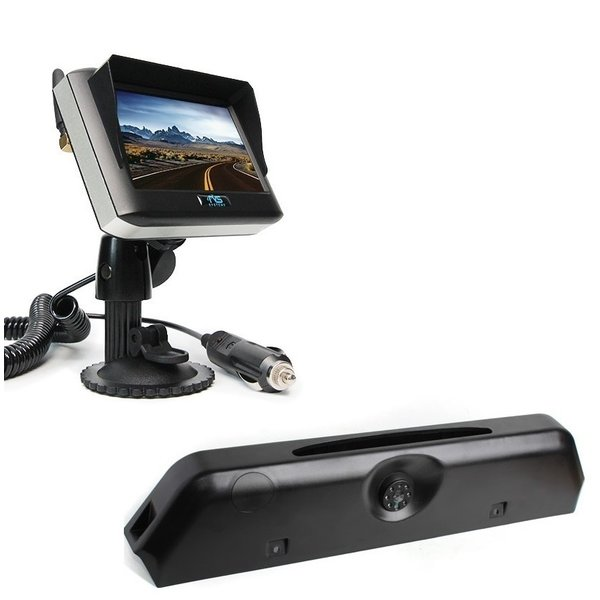 RVS-systemen Iveco Daily (2014-2018) Remlichtcamera Achteruitrijcamera Draadloze set Monitor 4.3 inch RVM-430