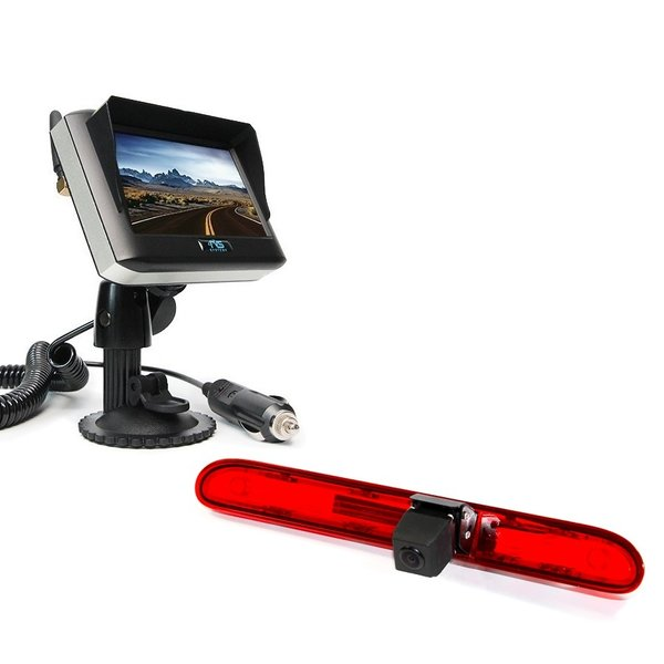 RVS-systemen Peugeot Expert (2016-heden) Remlichtcamera Draadloze set Monitor 4.3 inch RVM-430