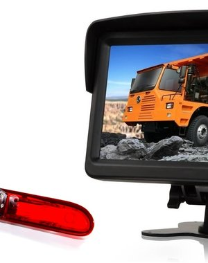 RVS-systemen Peugeot Partner  (2016-heden) Remlichtcamera  Monitor 7 inch RVM-760