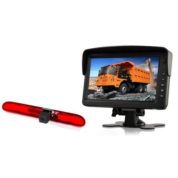 RVS-systemen Peugeot Partner   (2016 heden) Remlichtcamera Achteruitrijcamera  Monitor 7 inch RVM-760