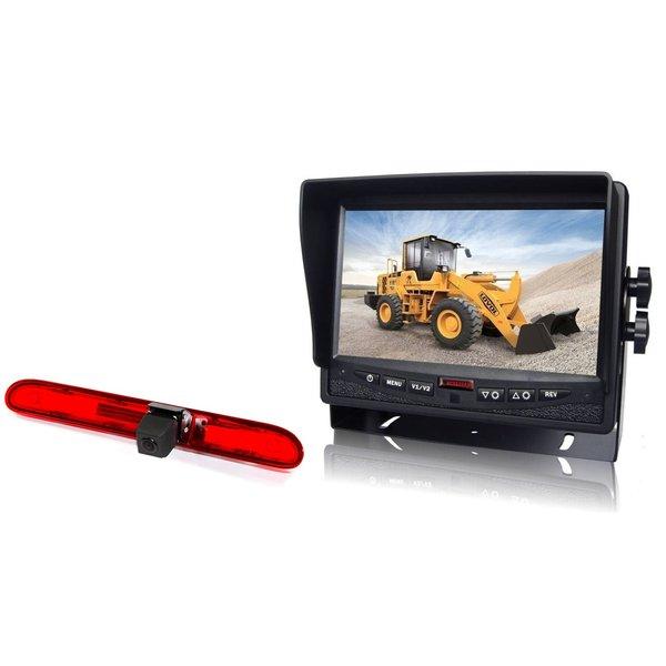 RVS-systemen Peugeot Partner   (2016 heden) Remlichtcamera Achteruitrijcamera  Monitor 7 inch RVM-780