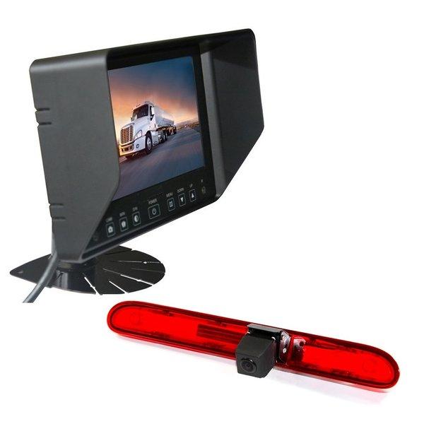 RVS-systemen Peugeot Partner (2016 heden) Remlichtcamera Achteruitrijcamera  Monitor 7 inch RVB-720