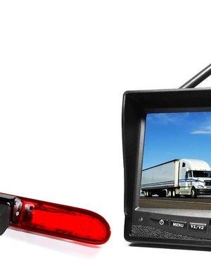 RVS-systemen Peugeot Partner  (2016-heden) Draadloze set Monitor 7 inch RVM-708