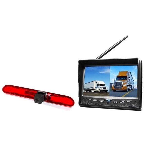 RVS-systemen Peugeot Partner (2016 heden) Remlichtcamera Draadloze set Monitor 7 inch RVM-708