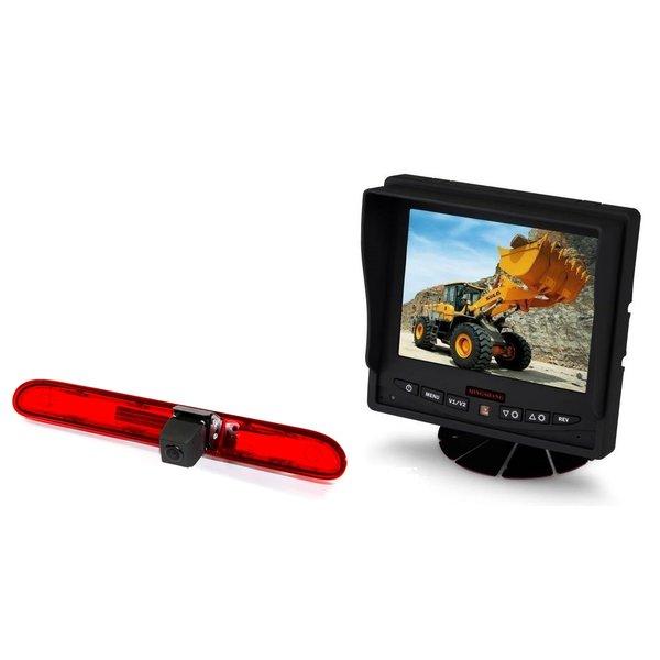RVS-systemen Citroen Jumpy (2016 heden) Remlichtcamera Achteruitrijcamera  Monitor 5 inch RVM-560
