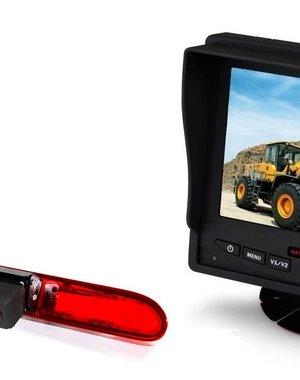 RVS-systemen Peugeot Partner  (2016-heden) Remlichtcamera  Monitor 5 inch RVM-560