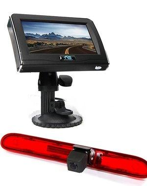 RVS-systemen Peugeot Partner  (2016-heden) Remlichtcamera  4.3 inch Monitor RVM-420