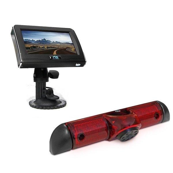 RVS-systemen Peugeot Boxer (2006-heden) Remlichtcamera Achteruitrijcamera 4.3 inch Monitor RVM-420