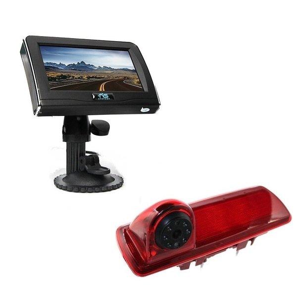 RVS-systemen Nissan  NV300 (2016-heden) Remlichtcamera 4.3 inch Monitor RVM-420