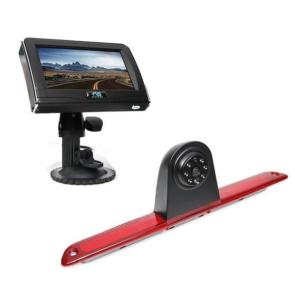 RVS-systemen VW Crafter Hoog (2007- heden) Remlichtcamera 4.3 inch Monitor RVM-420