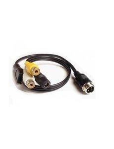 RVS-systemen Verloopkabel 4 pins RCA RMF-012