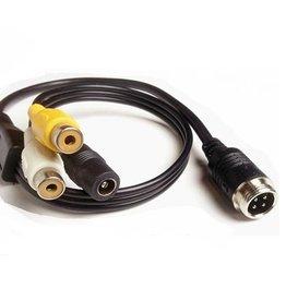 Verloopkabel 4 pins RCA RMF-01