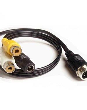 Verloopkabel 4 pins RCA RMF-012